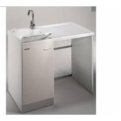 Lavatoio Porta Lavatrice LAVELLA L109xP60 con asse in legno -