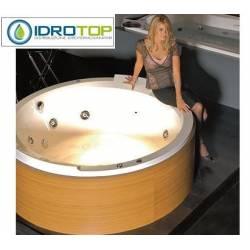 Vasca incasso IDROMASSAGGIO Mod. cimbra - tonda cm170 completa di colonna e sifone