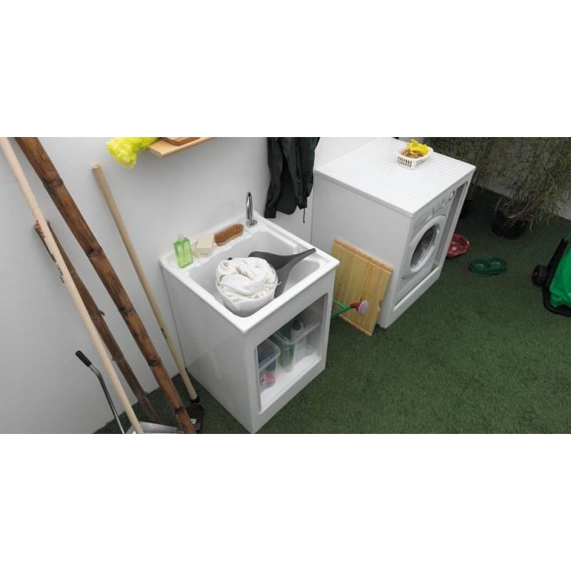 Mobile per esterno lavacril 60x50 tavola lavapanni in - Mobili per lavatrici e asciugatrici ...