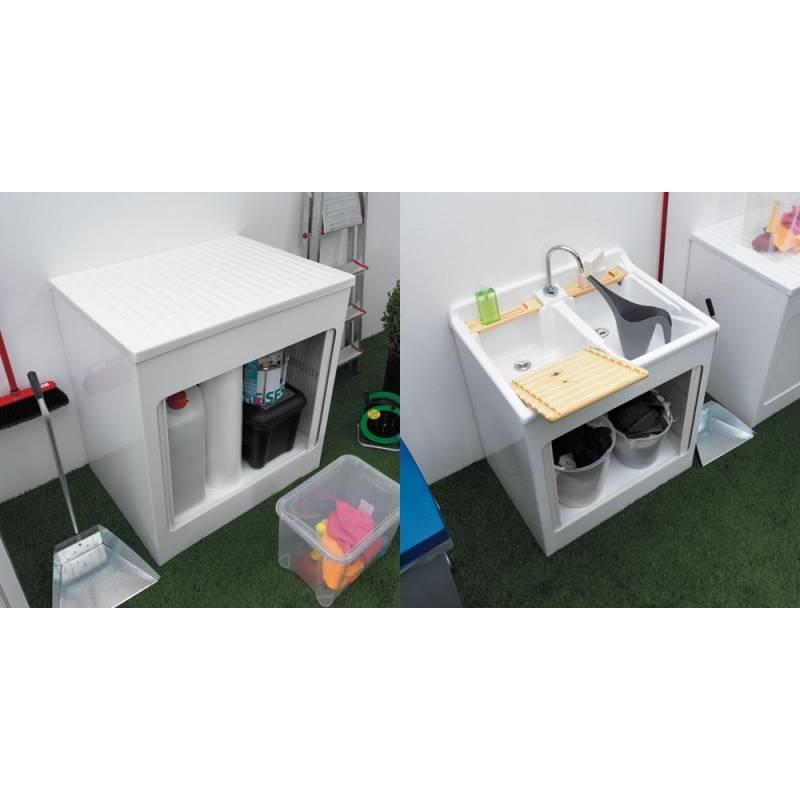 Mobile per esterno lavacril 45x50 tavola lavapanni in - Mobili per lavatrici e asciugatrici ...