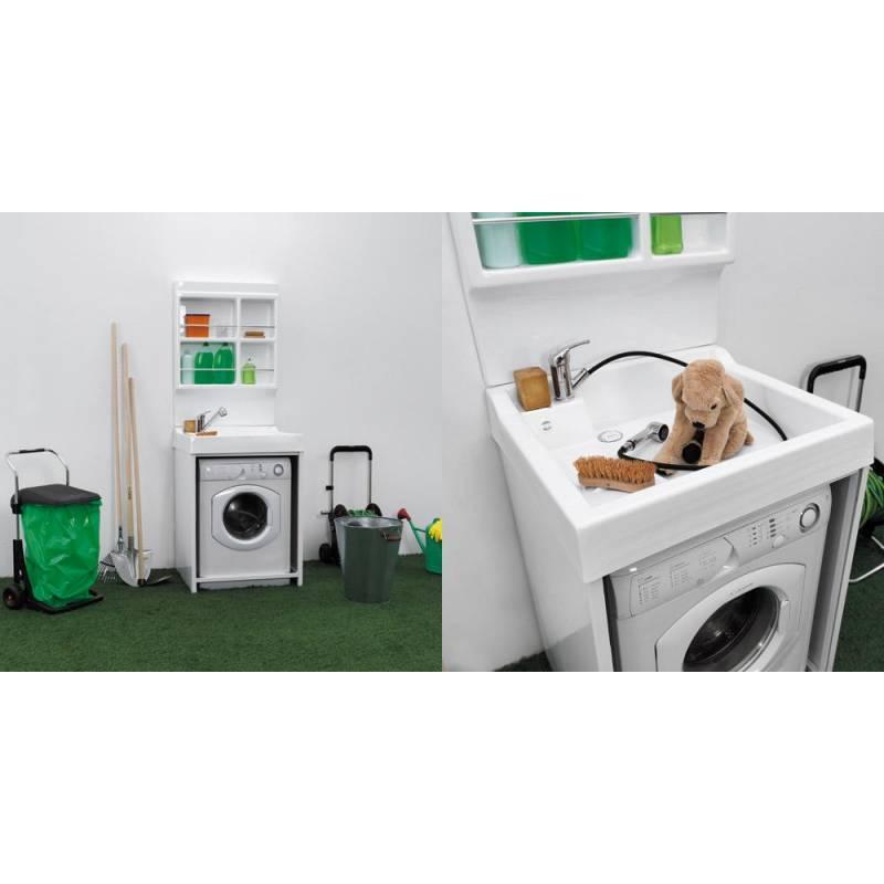 Mobile per esterno lavacril on 72x68 portalavatrice bianco - Mobile sopra lavatrice ...