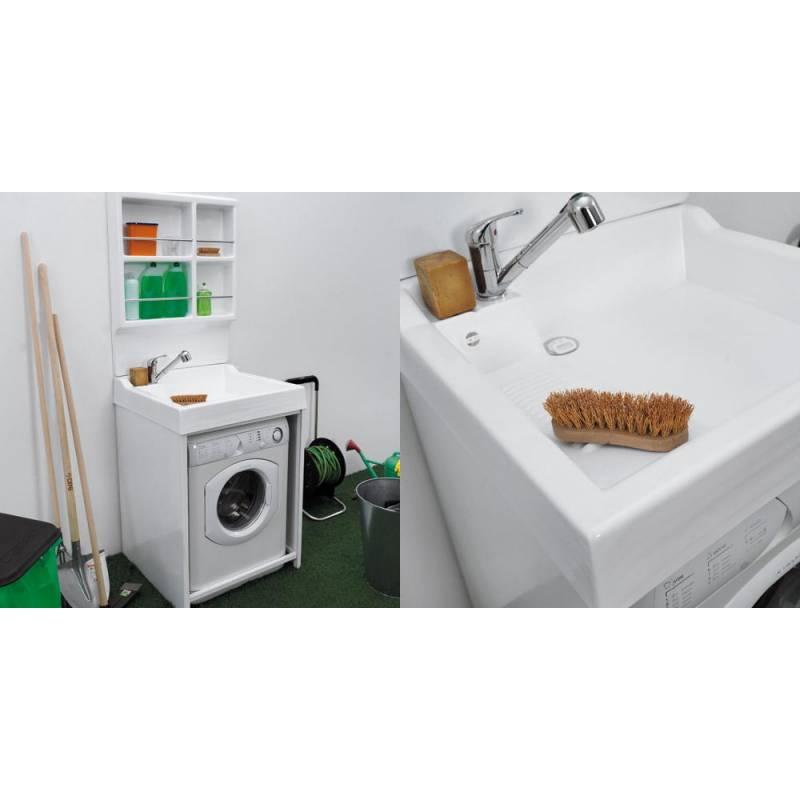 Mobile per esterno lavacril on 72x68 portalavatrice bianco for Mobile contenitore