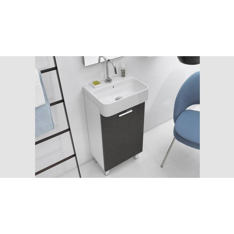 Lavabo 35x35 mini dx con mobile sospeso e lavabo ceramica - Lavabo sospeso con mobile ...