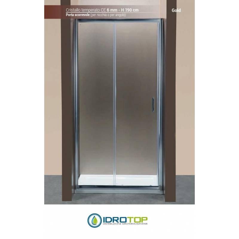 Box doccia porta scorrevole 100 cristallo trasparente 6mm - Porta scorrevole cristallo ...