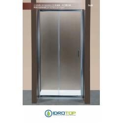 Box Doccia Porta Scorrevole 120 Cristallo TRASPARENTE 6mm-Telaio CROMATO PONSI Gold