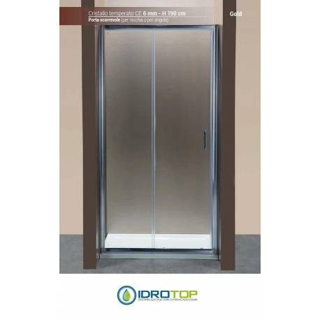 Box doccia porta scorrevole 120 cristallo trasparente 6mm telaio cromato - Telaio porta scorrevole ...