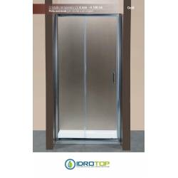 Box Doccia Porta Scorrevole 140 Cristallo TRASPARENTE 6mm-Telaio CROMATO PONSI Gold