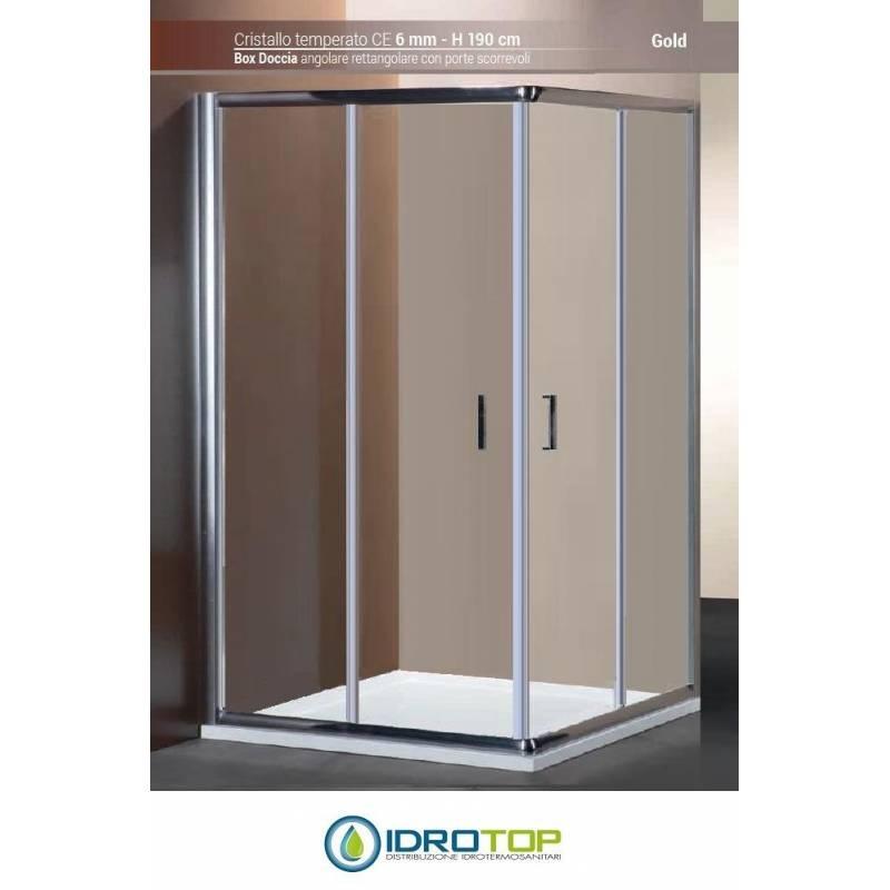 Box doccia rettangolare 100x120 cristallo trasparente 6mm for Doccia rettangolare