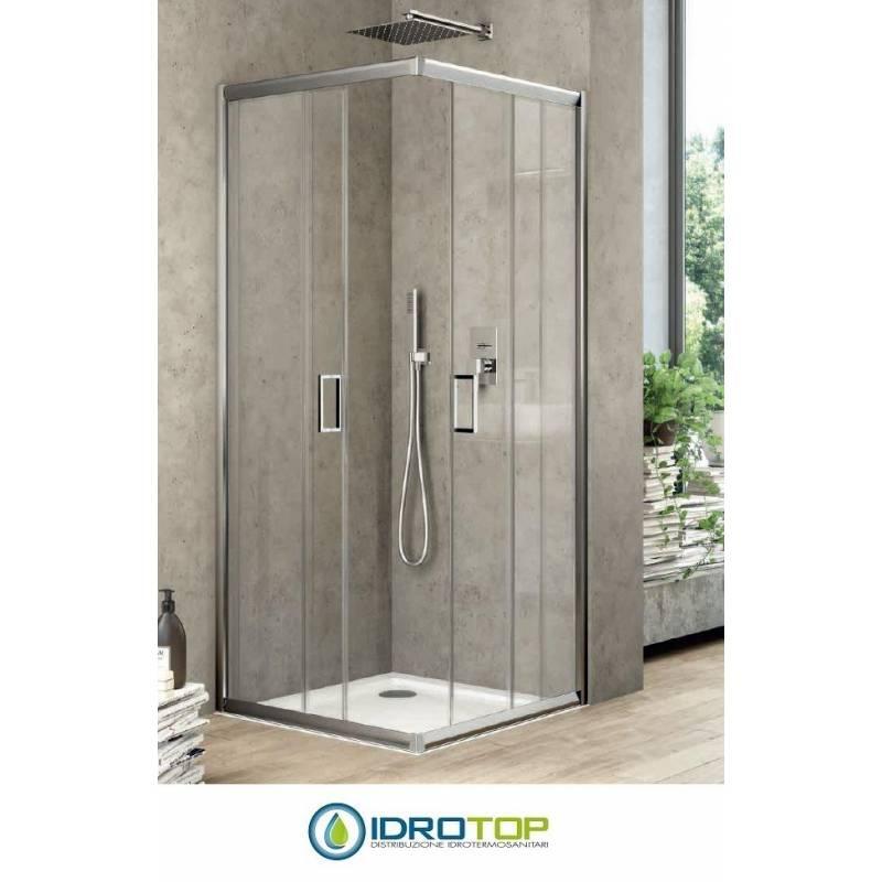Box doccia rettangolare 80x120 cristallo trasparente 6mm for Box doccia cristallo