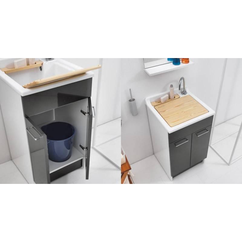 Lavatoio con mobile swash 60x60 lavapanni con mobile ampio - Mobile lavatoio ...