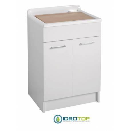 Lavatoio con Mobile SWASH 60X50,vasca in Abs metacrilato BIANCO