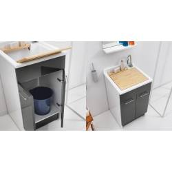 Lavatoio con Mobile SWASH 60X50,vasca in Abs metacrilato Colavene