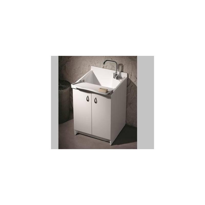 Lavatoio marella 50x50 con mobile doppia anta