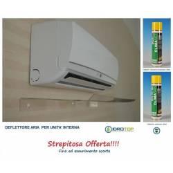 Deflettore Aria Condizionatori 110cm+Kit Pulizia Split 600ml OFFERTA limitata