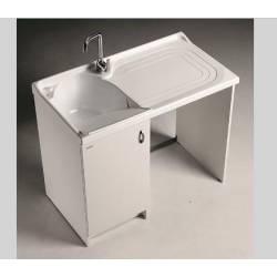Lavatoio PORTALAVATRICE Mod. MARELLA L109XP60 con asse in legno