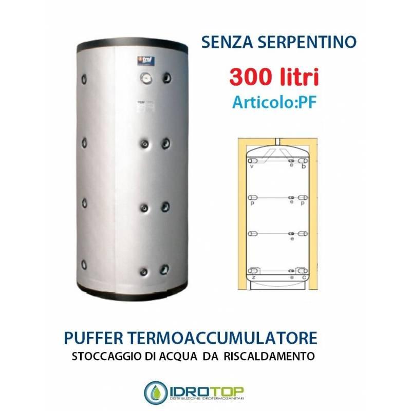 Puffer 300 lt serbatoio accumulo per acqua riscaldamento for Serbatoio di acqua di rame