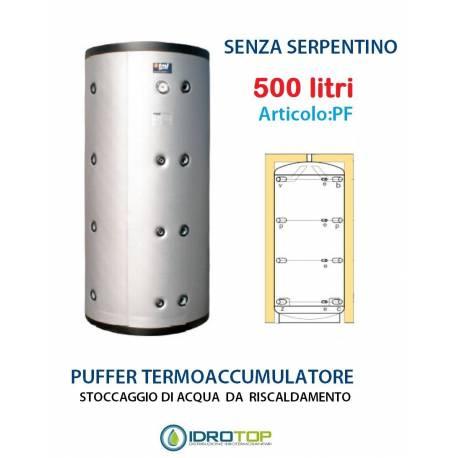 Puffer 500 litri accumulo per acqua calda riscaldamento for Serbatoio di acqua calda in rame