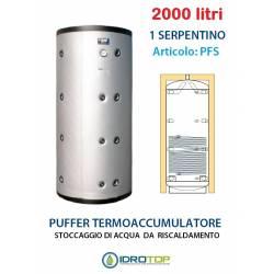 Puffer 2000 lt Serbatoio con 1 Serpentino - Accumulo per Acqua Riscaldamento