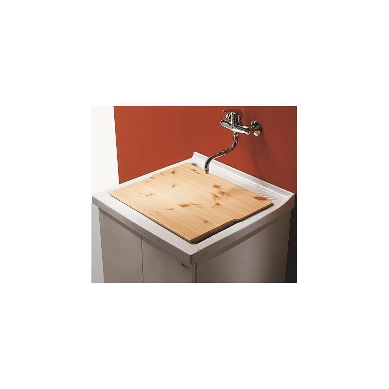 Vasca Lavatoio In Ceramica.Lavatoio Ceramica P60 L63 Asse In Legna Anta Doppia