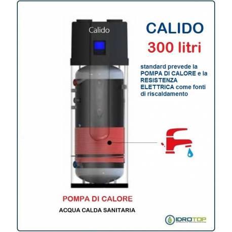 Pompa di calore per acqua calda sanitaria 300 litri acs calido for Serbatoio di acqua calda in plastica