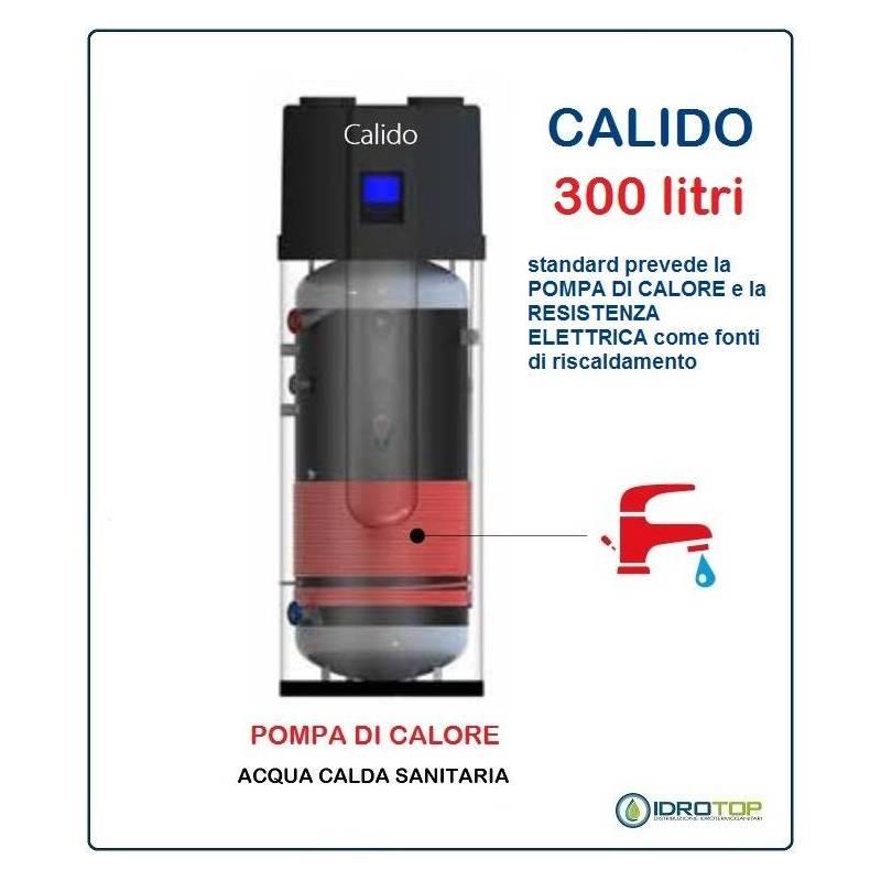 Pompa di calore per acqua calda sanitaria 300 litri acs calido for Tubi di acqua calda sanitaria