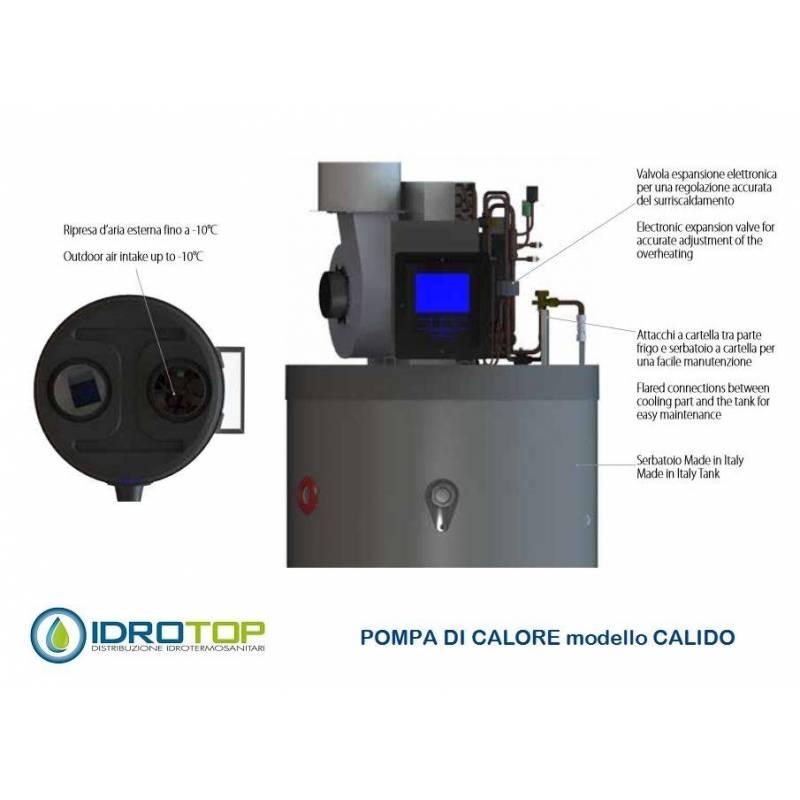 Pompa di calore per acqua calda sanitaria 300 litri acs calido for Connessioni idrauliche di acqua calda sanitaria