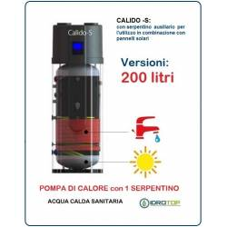 Pompa di Calore 200 LT.per Acqua Calda Sanitaria-Serbatoio con 1 Serpentino CALIDO S