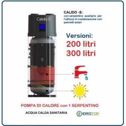 Pompa di Calore per Acqua Calda Sanitaria-Serbatoio con 1 Serpentino CALIDO S