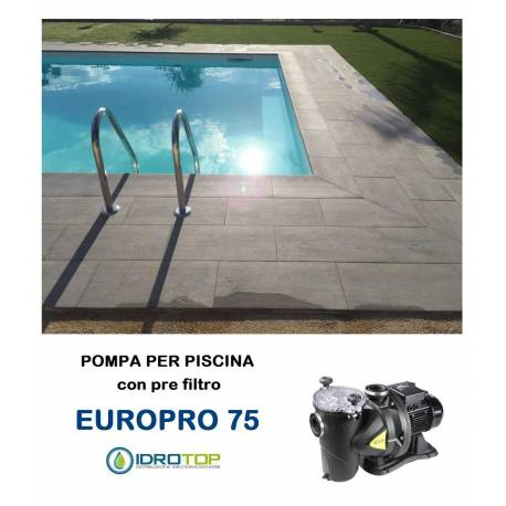 Pompa per piscina europro 75m centrifuga autoadescante con for Pompa per piscina