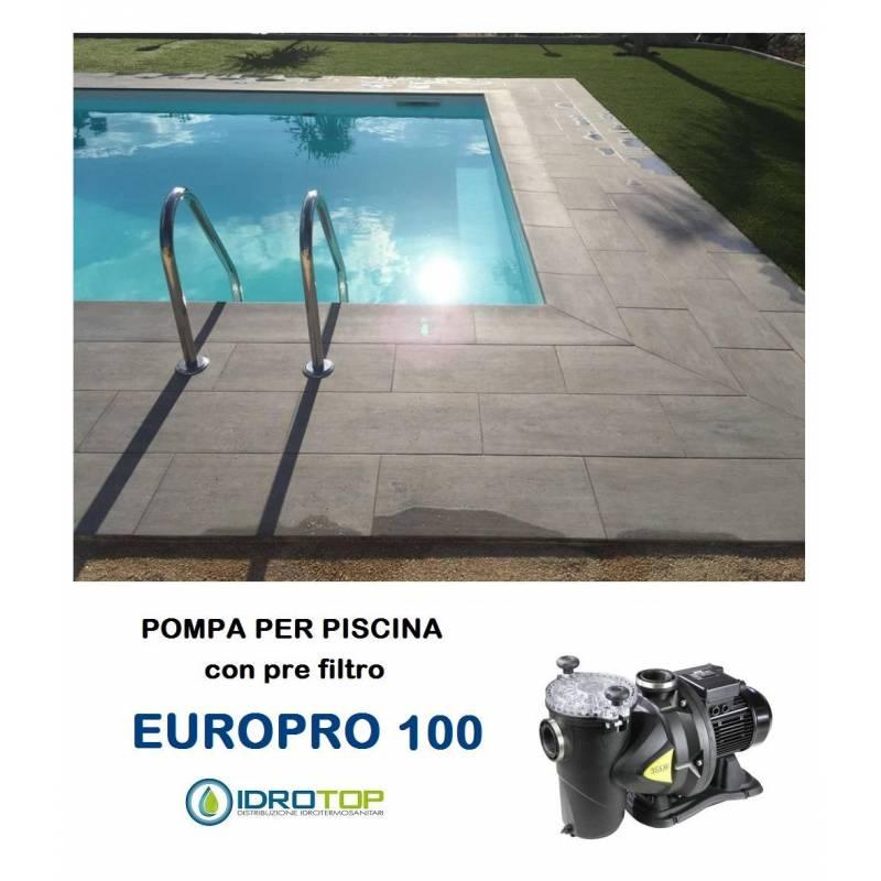 Pompa per piscina europro 100m centrifuga autoadescante for Pompa con filtro per laghetto da giardino