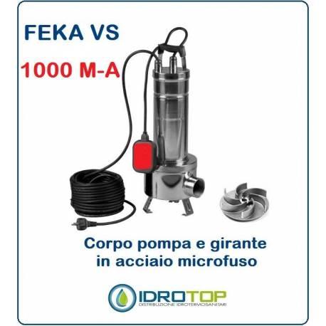 Pompa Sommergibile FEKA VS 1000 M-A con Galleggiante cavo e Spina.Per acque Nere