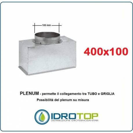 Imbocco per Griglia 18x18 diametro 100mm Raccordo Adattatore per Bocchetta Caminetto