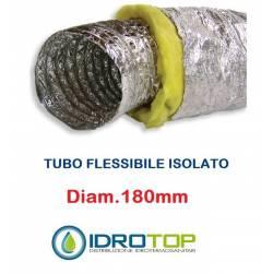 Tubo Flessibile diam. 180 in Alluminio a Doppia Parete Tubo Flex 10 mt