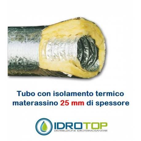 Tubo flessibile in alluminio a doppia parete tubo flex for Isolamento del tubo di rame dell acqua calda