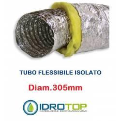 Tubo Flessibile diam. 305 in Alluminio a Doppia Parete Tubo Flex 10 mt