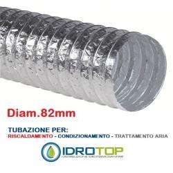 Tubo Flessibile diam.82 in Alluminio Semplice Estensibile 10 mt. per Condizionamento