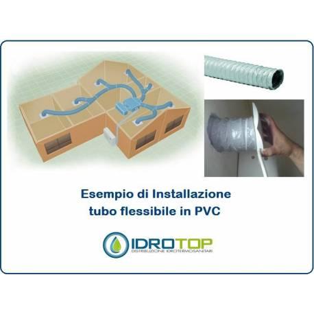 Tubo flessibile diam 160 pvc estensibile a 10 mt aria for Tubo in pvc per acqua calda
