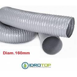 Tubo Flessibile diam.160 PVC Estensibile a 10 mt per Condizionamento e Ventilazione