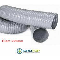 Tubo Flessibile diam. 229 PVC Estensibile a 10 mt per Condizionamento e Ventilazione