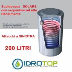 Scaldabagno STX LT200 Solare Attacco SINISTRO Serpentino Fisso Alto Rendimento