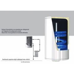 Scaldabagno Termo-Elettrico ST Verticale con Serpentino
