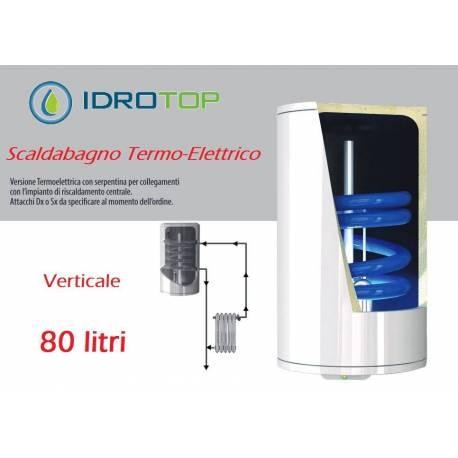Scaldabagno termo elettrico st verticale con serpentino lt80 - Scalda bagno elettrico ...