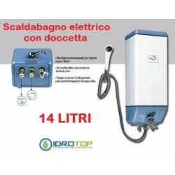 Scaldabagno Elettrico B 14 LT completo di Miscelatore Doccetta e Flessibile-Idrotop