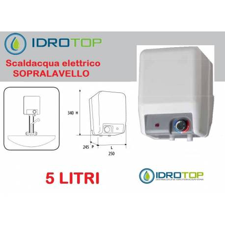 Scaldabagno elettrico sopralavello litri 5 - Installazione scaldabagno ...