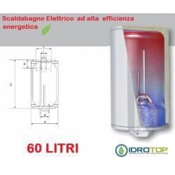 Scaldabagno ECOFIRE D60 Elettrico Risparmio Energetico 5Anni Garanzia