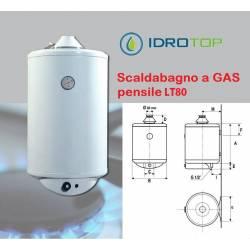 Scaldabagno GAS GAVP LT80 Pensile Uso Domestico con Valvola e Anodo 3 Anni Garanzia