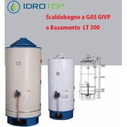 Scaldabagno GAS GIVP LT300 a Basamento Uso Industriale Anodo in Magnesio
