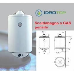 Scaldabagno GAS GAVP Pensile Uso Domestico con Valvola e Anodo 5 Anni Garanzia