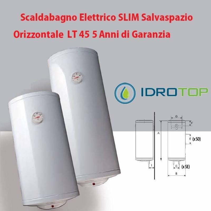 Scaldabagno lt45 elettrico slim salvaspazio orizzontale 5 anni garanzia - Scalda bagno elettrico ...