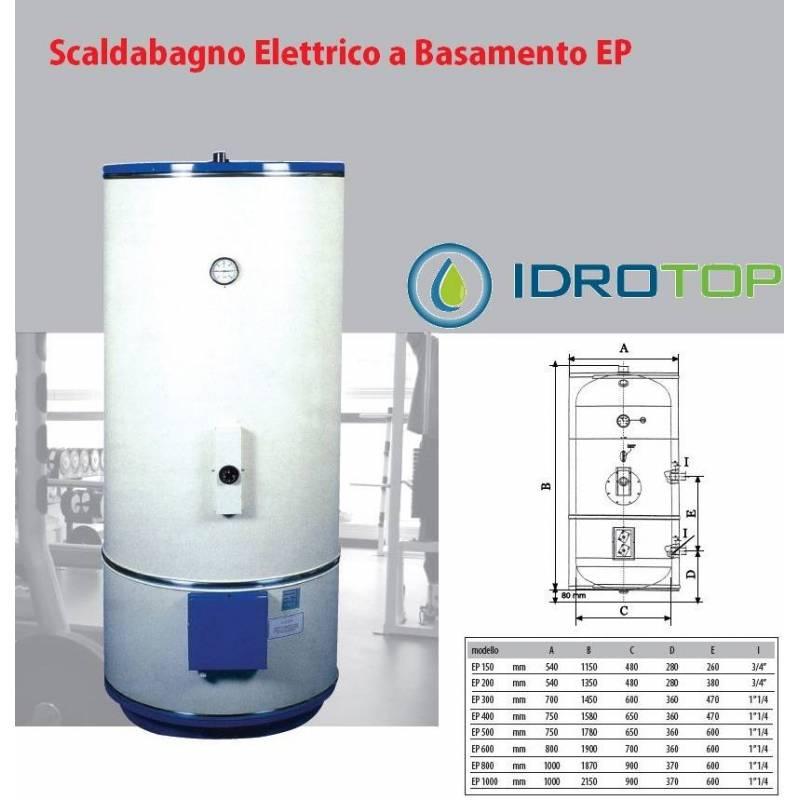 Scaldabagno elettrico 200lt mod ep a basamento con piedi - Scaldabagno elettrico istantaneo ...